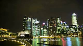 Singapore by night - timelapse