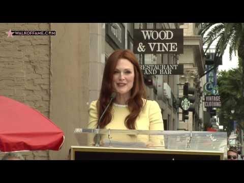 Julianne Moore Walk of Fame Ceremony