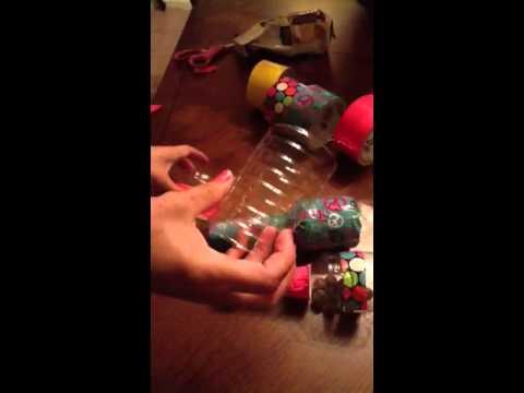 Maracas hechas con botellas d agua ( reciclando)