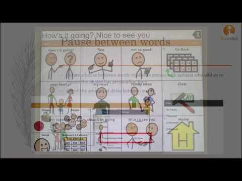 Communication Journey: Aphasia - Speech Settings