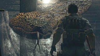 Resident Evil HD Remaster: All Bosses and Ending (4K)
