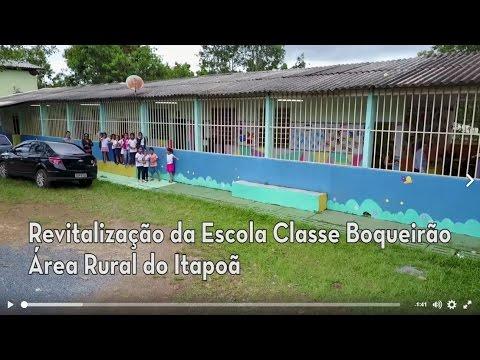 Revitalização da Escola Classe Boqueirão, área rural do Paranoá