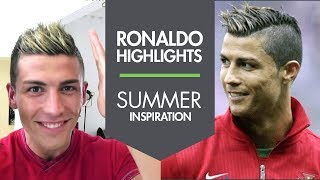 Cristiano Ronaldo new summer haircut with Highlights 2013 - Slikhaar Studio