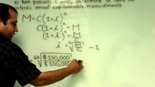 Interés compuesto: cálculo de la tasa de interés