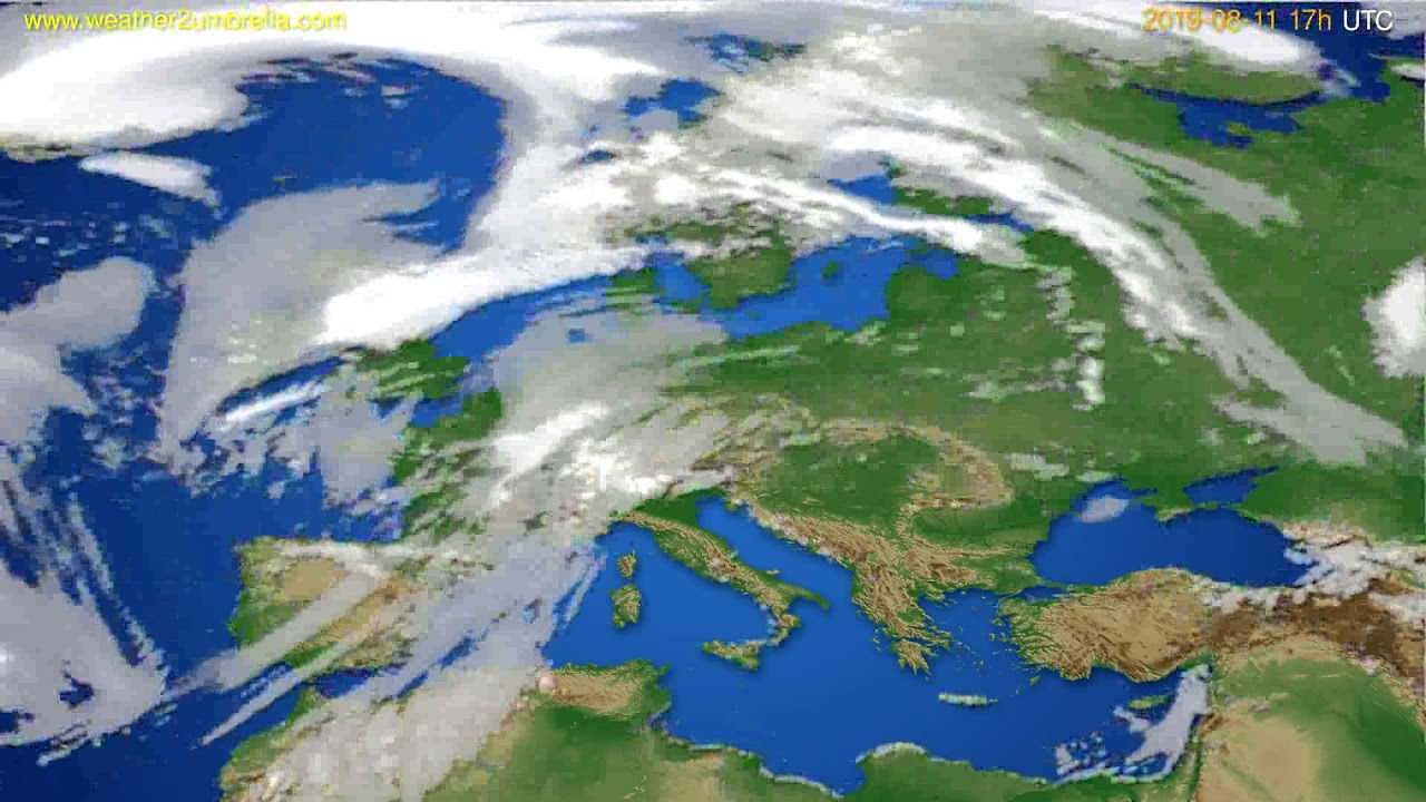 Cloud forecast Europe // modelrun: 00h UTC 2019-08-10