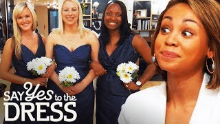 Ex-Mean Girl Gets Catty With Her Bridesmaids! | Say Yes To The Dress Bridesmaids