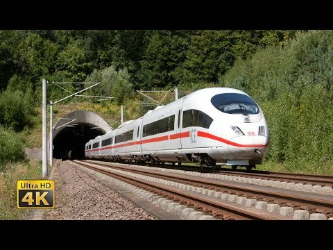 Feel the 300km/h - Germany ICE High speed trains - Frankfurt - Köln [4K]