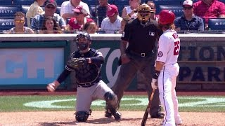 Carlos Villanueva throws a perfect 55mph eephus pitch to Jayson Werth in the bottom of the 5th inning Check out ...