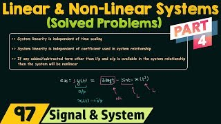 Linear and Non-Linear Systems (Solved Problems) | Part 4