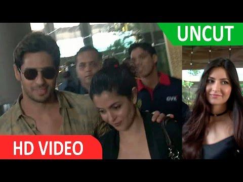 Sidharth Malhotra I Katrina Kaif I Baar Baar Dekho I Spotted Mumbai Airport