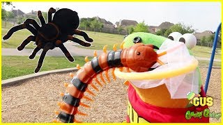 Video Bugs Hunting Giant Bugs at outdoor playground for kids! MP3, 3GP, MP4, WEBM, AVI, FLV Juli 2018