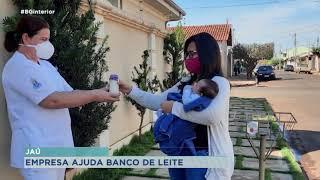Empresa de Jaú ajuda bancos de leite a aumentar estoque