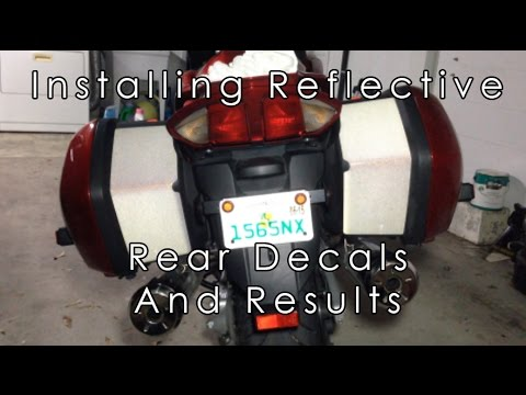 How To Install Rear Motorcycle Reflective Stickers And Results