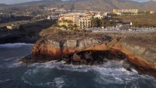 Hotel Bahia Principe from seaside, lovely cave!