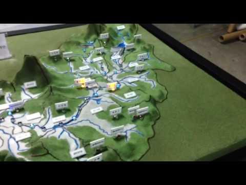대전 디오라마 LED 지형 모형 제작
