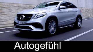 New Mercedes-AMG GLE 63 Coupe premiere: driving shots exterior interior - Autogefuehl