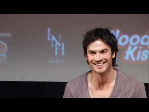 "Ian Somerhalder singing ""If you're sexy and you know it, clap your hands !""."