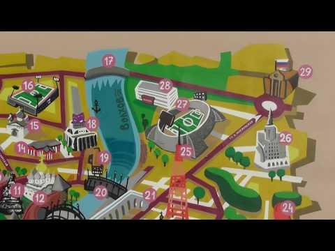 граффити карта центра города Великий Новгород
