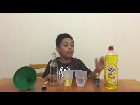 Oil, Water And Dishwashing Liquid: Science Experiment