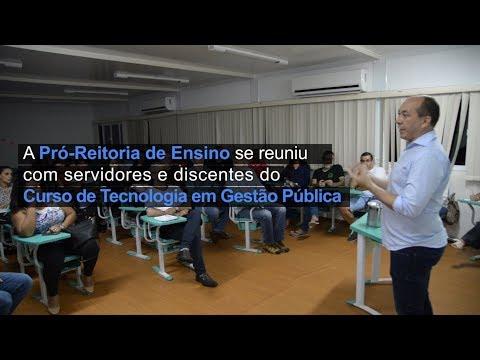 PROEN se reúne com servidores e discentes do Curso em Gestão Pública