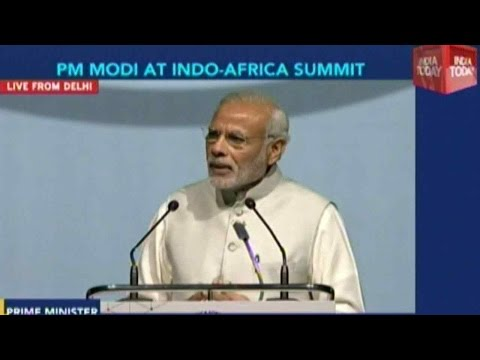 PM Narendra Modi Addresses the delegates of 54 African countries in India-Africa Summit