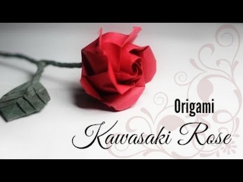 Origami Rose Instructions (Kawasaki rose variation)