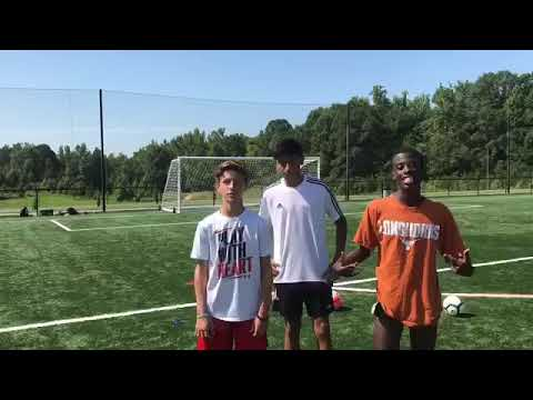 Left footed players v.s. Right footed players!! Crossbar Challenge