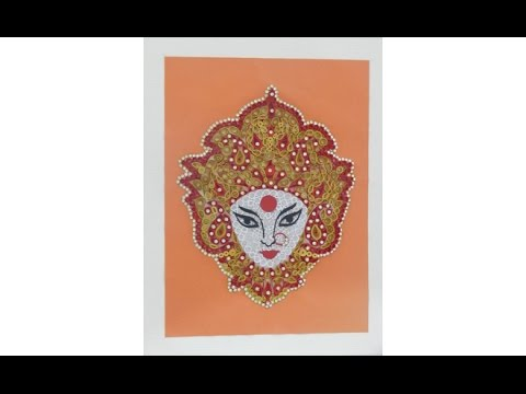 Quilling Durga Face