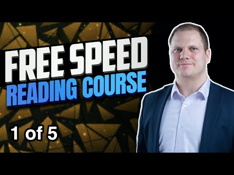 Free Speed Reading Course (part 1)