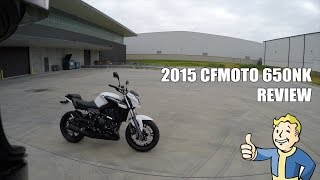 9. 2015 CFMOTO 650NK Ride Review