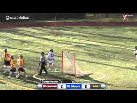 Tyler Powers (Shoremen Lacrosse): Six-Point Half v. St. Mary's