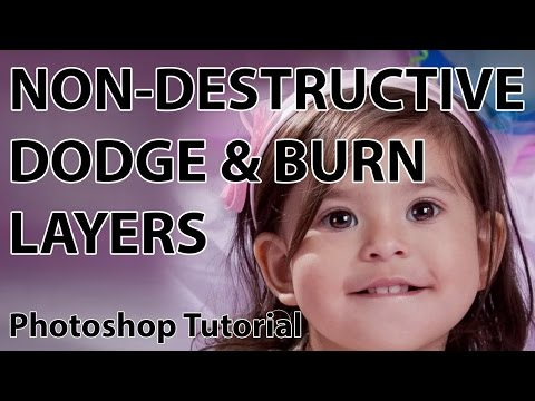 ajwood - I Create Content #44. Learn how to create dodge and burn layers in Photoshop to add highlights and shadows non-destructively. Glyn's blog post - http://glynd...