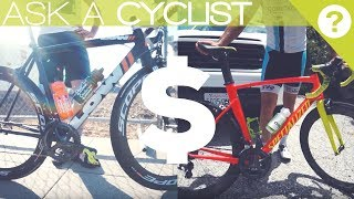 I ask the local fast guys just how much their race bikes cost, as well as how much they actually paid for them. Some answered, others did not, but this gives you an idea of how much the local cat 1/2s have invested into their race machines.I asked these questions at 2 races in northen California, I asked cyclists about they road bikes and how much they spent vs how much they retail for. SICK BEAT BY CHUKI -  https://www.youtube.com/channel/UCSyBSyLk4ZvXd2Fj-tLojag follow me bruhhttps://www.facebook.com/theVeganCyclisthttps://www.strava.com/athletes/180549https://www.instagram.com/the_vegan_cyclist/