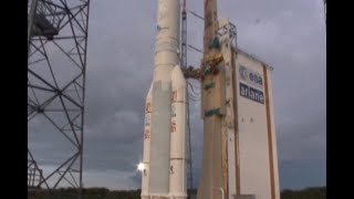 The Indian Space Research Organisation (ISRO) launches its GSAT-17 communication satellite from French Guiana's Kourou with an Ariane-5 launch vehicle.