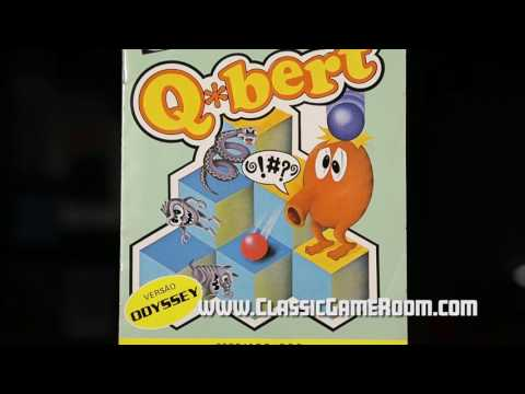 Classic Game Room - Q*BERT review for Magnavox Odyssey 2