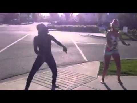 Dancing on the corner of the street