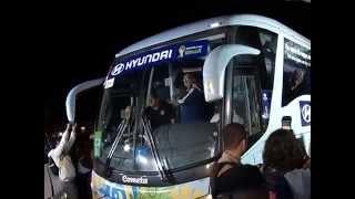 VÍDEO: Delegações do Uruguai e da Argentina desembarcam em Minas Gerais para a Copa