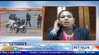 Suscríbase a nuestro canal en YouTube: http://tinyurl.com/NTN24VENEZUELAAlejandra Olivares, abogada de Gianni Scovino, joven con asperger golpeado por la Guardia Nacional y la Policía Nacional Bolivariana en Venezuela, dijo en el programa La Tarde de NTN24 que la juez militar que lleva el caso desestimó que los uniformados sean imputados por delitos de tratos crueles y tortura.También puede seguirnos en nuestras redes sociales:Twitter: https://twitter.com/ntn24veFacebook: https://www.facebook.com/NTN24veInstagram: https://instagram.com/ntn24ve