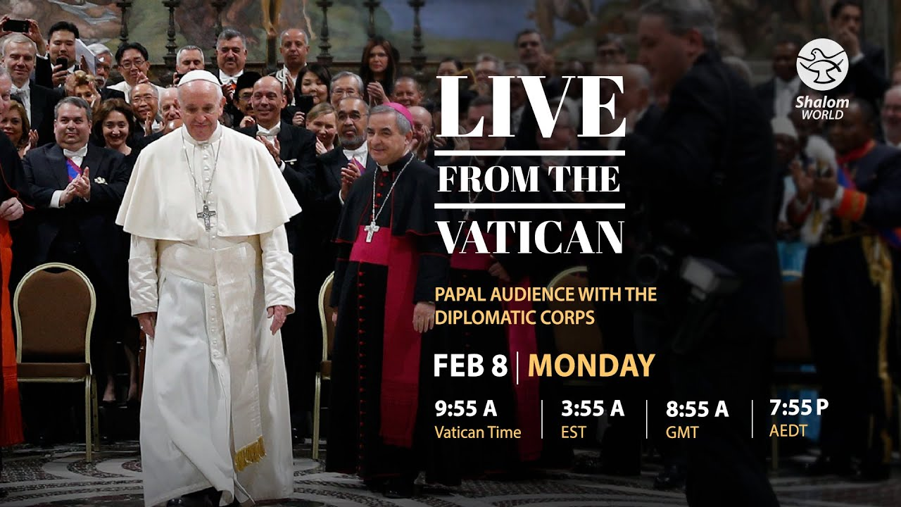 Papal Audience with the Diplomatic Corps 8th February 2021 with Pope Francis at Vatican