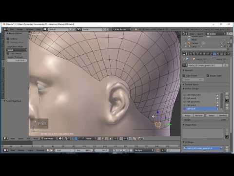 Blender Tutorials: How To Create A Male Haircut Fast & Easy Hair