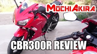 9. Honda CBR300R Review (Good Commute Bike for First Time Rider)