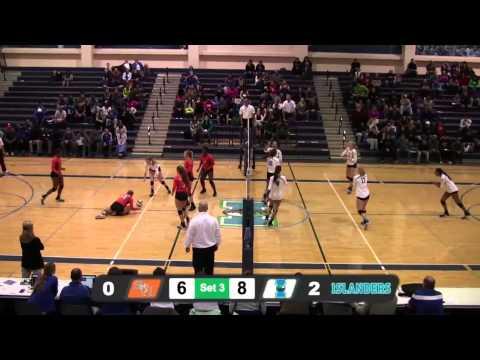 Islanders Volleyball sweeps Sam Houston State