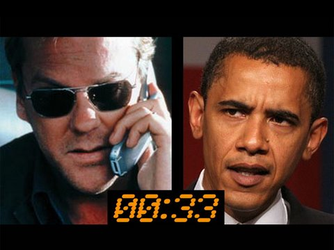 Jack Bauer - Terrorist are plotting against Obama, and only one man has what it takes to keep this country safe.