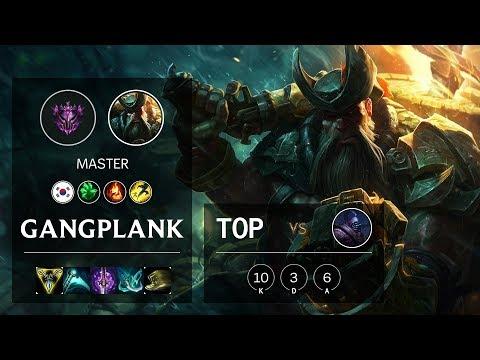 Gangplank Top vs Jax - KR Master Patch 10.9