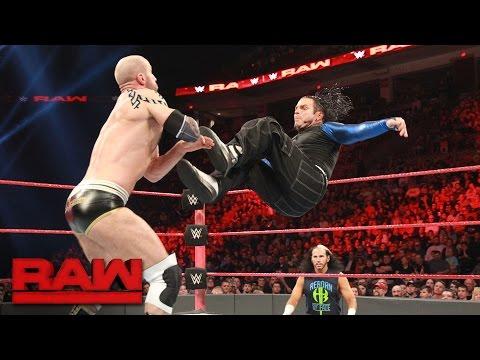 Video Jeff Hardy vs. Cesaro: Raw, April 17, 2017 download in MP3, 3GP, MP4, WEBM, AVI, FLV January 2017