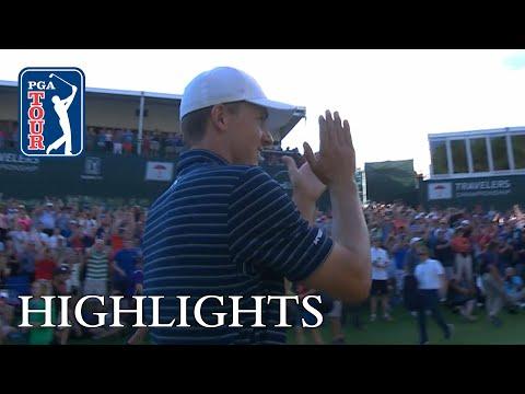 Jordan Spieth extended highlights | Round 4 | Travelers (видео)