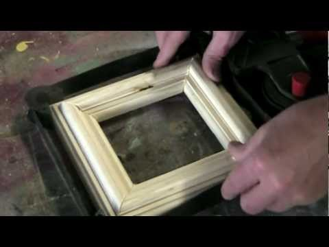 making picture frames - How to make a simple picture frame using two bits for your router. This is intended as a first project for beginning woodworkers who are learning to use a ro...