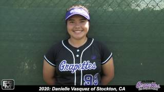 2020 Danielle Vasquez Power Hitting 3rd Base & 1st Base Softball Skills Video