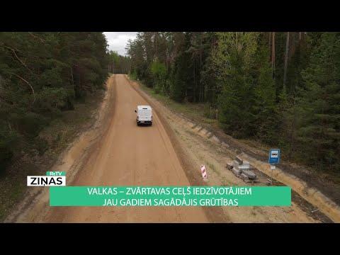 Sižets par Zvārtavas pagasta Valka - Zvārtava ceļa kvalitāti