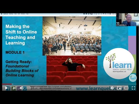 Module 1 - Making the Shift to Online Teaching and Learning